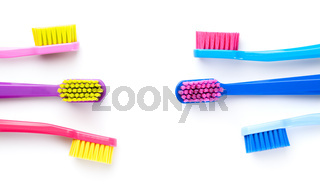 New Toothbrushes Isolated On White Background