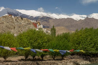 Spituk monastery seen from the bridge on Indus