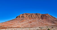 Driving through the Damaraland in Namibia