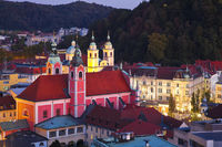 Downtown Ljubljana - the capital of Slovenia