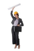 Female engeneer architect