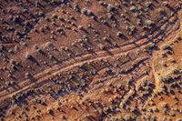 desert road aerial view