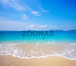 Sandy beach and beautiful tropical sea