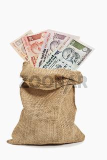 Indische Rupien Banknoten   Indian rupee bills