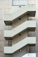 House wall with stairs in Berlin. Germany
