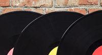 Three gramophone records