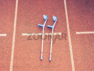 Light metal elbow crutch with comfy ergonomic plastic handle
