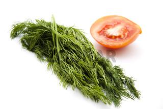 Dill frisch und Tomate