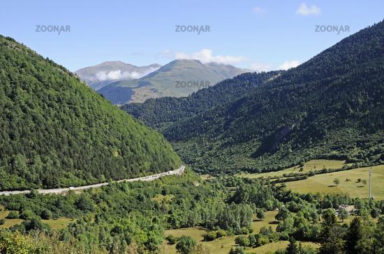 landscape, Vielha e Mijaran, Aran Valley, Pyrenees, Lleida province, Catalonia, Spain, Europe