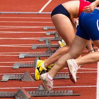 Sprintstart in track and field