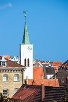 Die evangelische Auferstehungskirche in Überlingen am Bodensee