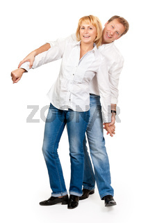 Portrait of a beautiful middle-aged couple