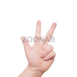 Handzeichen 3
