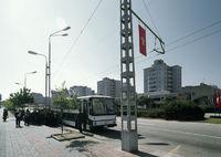 Chongmun Street Bus Stop in Pyongyang