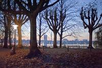 Herbstabend im Alsterpark