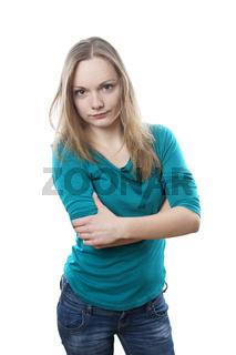 enttäuschte junge Frau