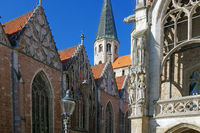 The old centre of Brunswiek in Germany