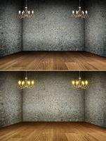Chandelier in grunge interior   Background