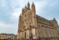 Gothic chapel of duomo di orvieto religious cathedral, umbria Italy