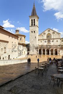 Spoleto Umbria Italy. Duomo di Spoleto Cathedral