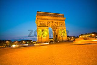 Paris, Paris, Frankreich. Triumpfbogen
