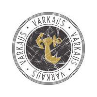 Varkaus city postal rubber stamp