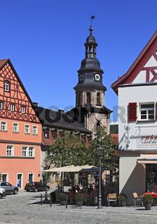 Spitalkirche und Marktplatz von Kulmbach