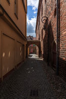Streets in old town. Juterbog is a historic town in north-eastern Germany.
