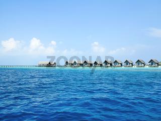 Luxury villas floating on sea