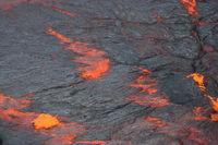 Volcano Kilauea Lava lake surface