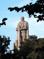 Knight Bismarck monument in stone