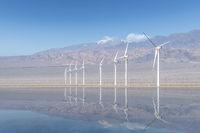 wind energy landscape on western wilderness