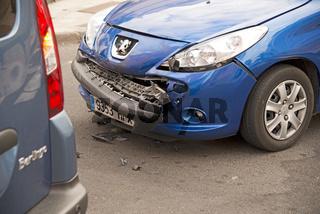 Verkehrsunfall, leichter Blechschaden an einem PKW, Karambolage, Teneriffa, Kanarische Inseln, Spanien, Europa