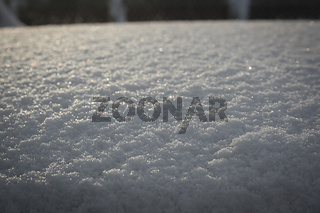White freshly fallen snow