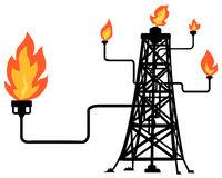Oil Fire Rig Cartoon