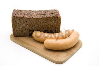 Knackwurst mit Vollkornbrot