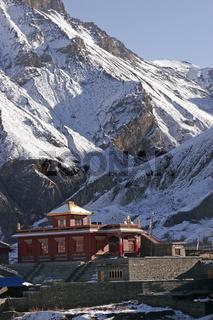 Tempel im Pilgerort Muktinath in Nepal