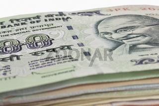 Indische 100 Rupien Banknoten   Indian 100 rupees bills