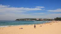 Popular Manly beach, Sydney.