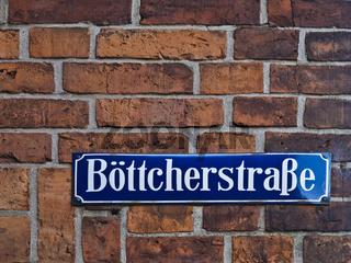 Strassenschild Boettcherstrasse
