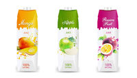 Fruit Juice Packaging Collection Isolated White Background