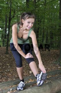 Training im Wald