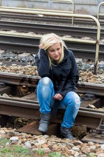 Frau traurig, ängstlich und deprimiert