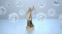 Lady Justice Statue Corona Viruses