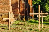Wooden crosses - Daylesford