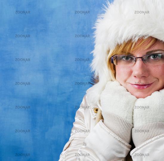 Winter woman, portrait