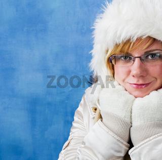 Winter Frau, Portrait