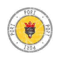 Pori city postal rubber stamp