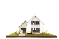 Miniature house with furniture