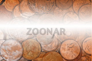 Coins currency from multiple countries backgound
